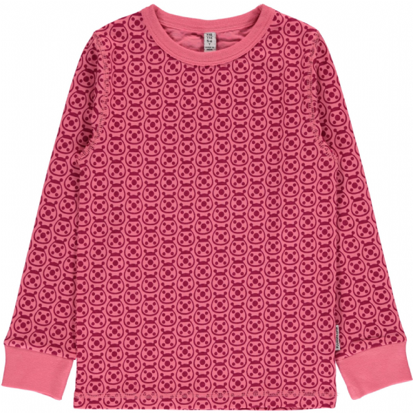 Maxomorra Long Sleeve Top Ladybug